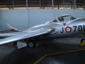 DH-115 Vampire kini berada di Museum Dirgantara TNI AU, Yogyakarta